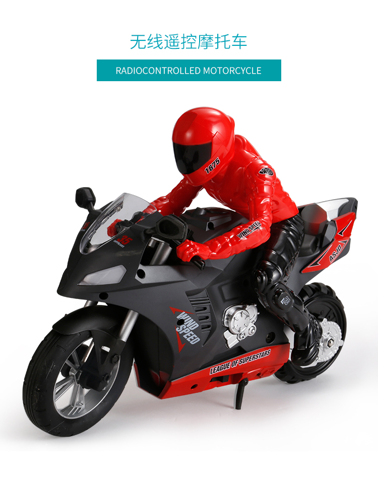 1:6 Super RC Car Electric Remote Control RC motorcycle Rotate 360° 2.4Ghz Racing Motorbike Boy toys for children