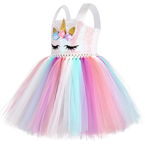 Image 4 - パステルスパンコール女の子ユニコーンチュチュドレス子供の誕生日パーティーポニーユニコーン衣装子供クリスマスハロウィンカーニバルドレス