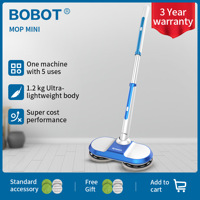 BOBOT MOP MINI Cordless Electric Mop Floor Mop Sweeping Handheld Wireless Electric Mop Floor Washer