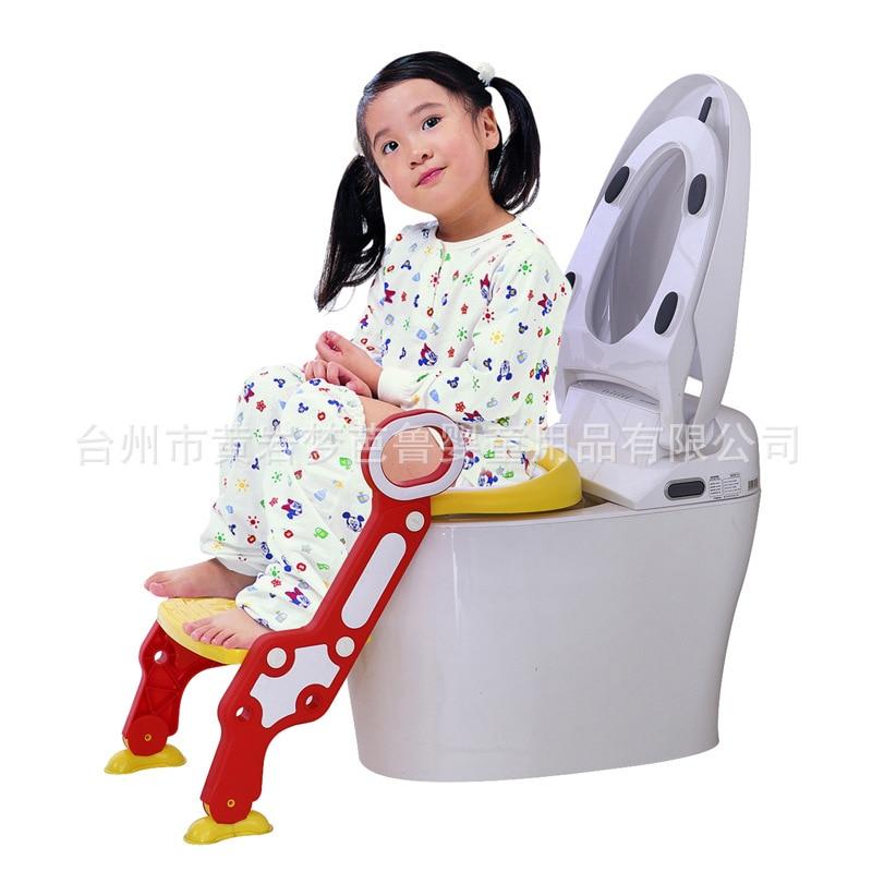 Auxiliary Chamber Pot Ladder CHILDREN'S Toilet Seat Supplies Infants Baby Ladder Folding Pedestal Pan