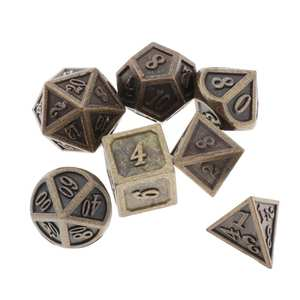 Polyhedral Dice Board-Game Table RPG DND Dungeons Dragons D12 D10 D8 D6 D20 MTG 7pcs