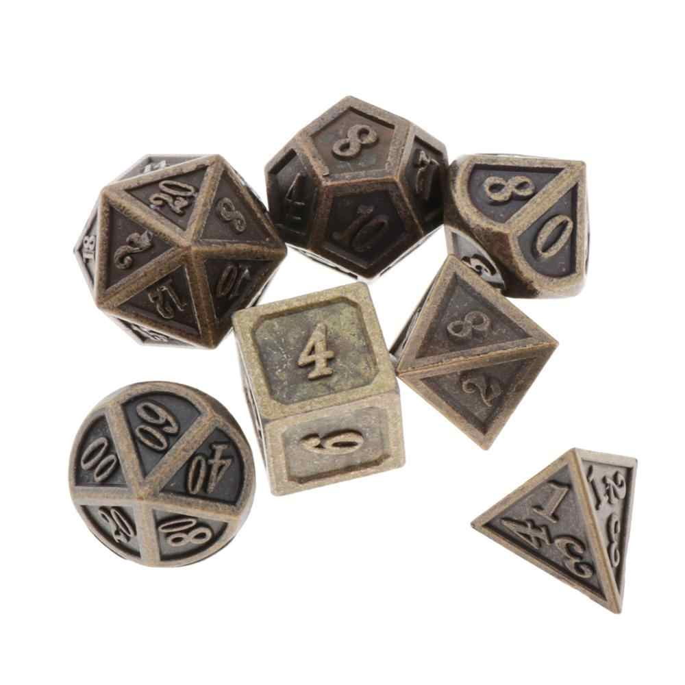 7Pcs Polyhedral Dadi Poliedrici Gioco di Dadi Set per RPG Dungeons and Dragons DND RPG MTG D20 D12 D10 D8 d6 D4 Da Tavolo Gioco Da Tavolo