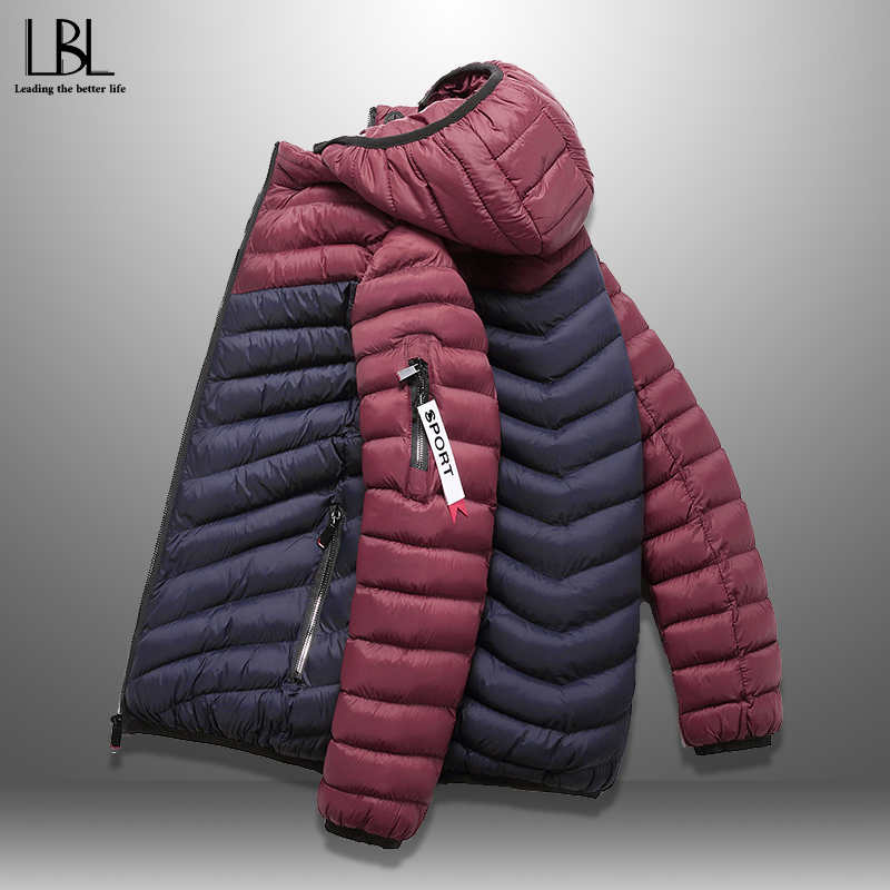 Jacket Men Parkas Winter Windproof Hooded Casual Male HOT with Casaco Masculino Slim-Fit title=