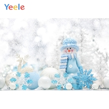 Yeele Christmas Photocall Bokeh Winter Snowman Ball Photography Backdrops Personalized Photographic Backgrounds For Photo Studio
