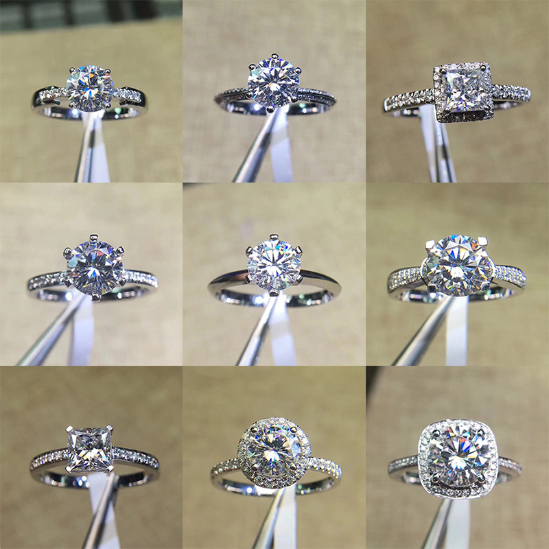 CC Wedding Rings For Women Cubic Zirconia Stone White Gold Color Trendy Jewelry Bridal Engagement Ring S925 Stamp Drop Shipping