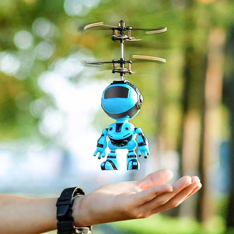 Intelligent Hand Sensing Fly Robot And Dinosaur Kids Toy Electronic Aircraft Suspension Toys For Child Smart Pet Action RC Robot