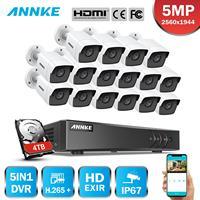 ANNKE H.265+ 5MP Ultra HD 16CH DVR CCTV Security System 16PCS Outdoor 5MP EXIR Night Vision Camera Video Surveillance Kit
