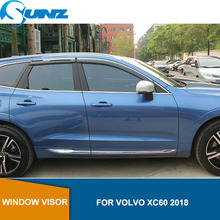 Side window deflectors For VOLVO XC60 2018 Window Air Vent Visor Sun Shade Awnings Shelters Guards  car Styling SUNZ