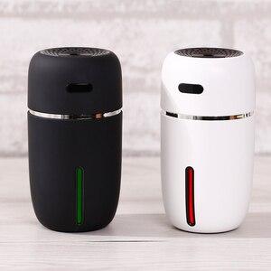 5 pçs/lote USB Difusor de Aroma de Óleo Essencial 200ML Umidificador de Ar Do Carro Mini Desktop Umidificador Início Névoa Criador Fogger Com luzes
