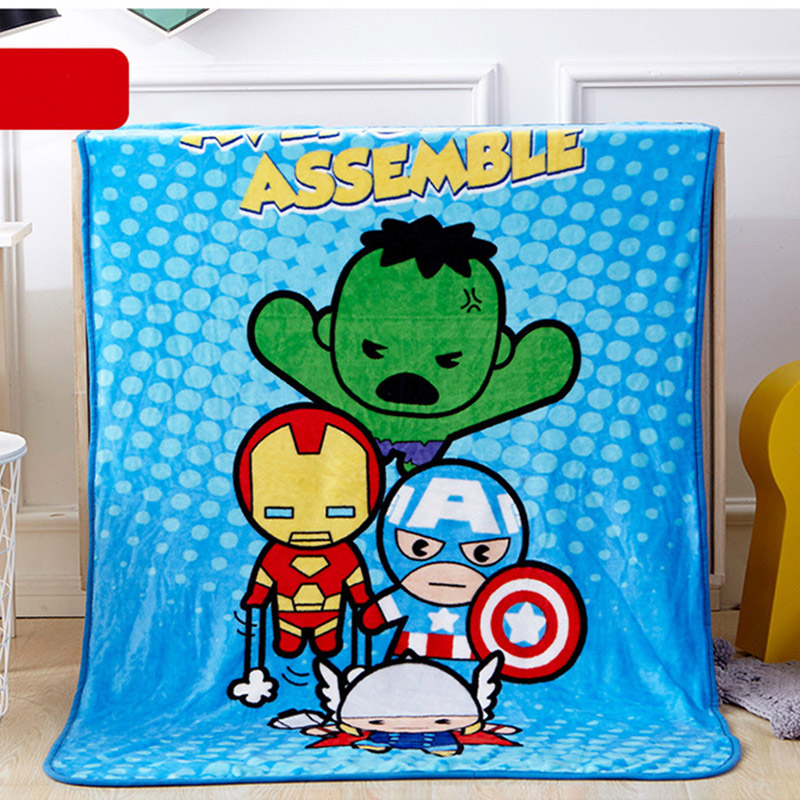 Disney Cartoon Captain America Avengers Super Soft Baby Blanket Throw 100x140cm For Children Boys Gift Blankets On Car Bed Sofa