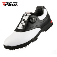 PGM Men Genuine Leather Golf Shoes Patent Designed Non slip Nail Tennis Shoes Waterproof Sneakers D0843