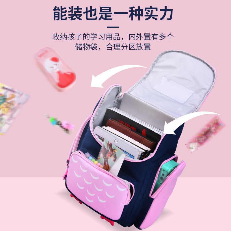 Kinder Schule Taschen mädchen jungen kinder cartoon grundschule rucksack orthopädische eule schulranzen rucksack kinder mochila infantil