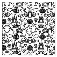 ZhuoAng Halloween Castle Ghost Bat Clear Stamps For DIY Scrapbooking/Card Making/Album Decorative Silicone Stamp Crafts