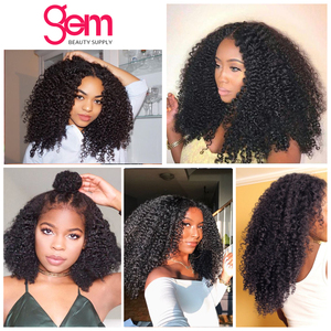 Image 5 - Afro Kinky Curly Wig Lace Front Human Hair Wig For Women Mongolian Remy Hair 30 Inch 13x 1 x6 T Transparent HD Lace Frontal Wig