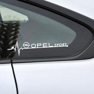 Image 1 - Autocollants de vitres latérales de voiture, pour Opel Astra H G J Insignia Mokka Zafira Corsa Vectra C D Antara, accessoires de voiture, emblème sportif, 2 pièces
