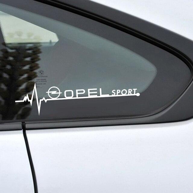 Autocollants de vitres latérales de voiture, pour Opel Astra H G J Insignia Mokka Zafira Corsa Vectra C D Antara, accessoires de voiture, emblème sportif, 2 pièces
