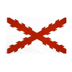 Cruz de borgonha bandeira espanha nacional poliéster bandeira voando 150*90cm 3ft x 5ft bandeira em todo o mundo ao ar livre