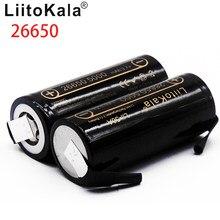 HK LiitoKala 3.7V 26650 5000 mah Ad Alta Capacità Lii-50A-N Li-Ion Batteria Ricaricabile per Torcia Elettrica del led + FAI DA TE Nichel