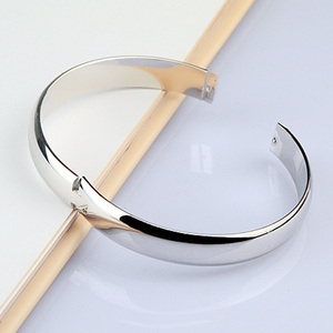 Image 4 - 100% 925 Silver Bracelet for Women Minimalist 8mm10mm Glossy Bracelet Sterling Silver Bracelet Fine Jewelry Christmas Gifts