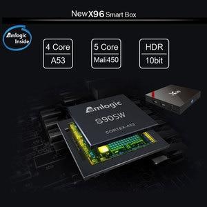 Image 2 - X96 Android 7,1 Dispositivo de TV inteligente WiFi S905W conjunto de cuatro núcleos Top Box 4K Media Player X 96 X96W Set top Box