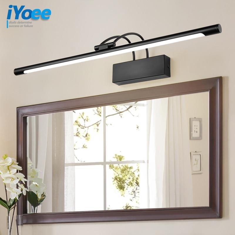 bathroom LED mirror light bedroom Wall lamp vanity lamps Waterproof Modern Black Picture Wall sconce fixtures Bathroom Lighting|LED Indoor Wall Lamps| |  - title=
