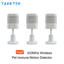 YANKTON 433MHz Wireless Anti-pet Infrared Detector Indoor PIR Motion Detector&Sensor for WIFI GSM Home Security Alarm System intelligent outdoor solar power anti pet infrared door window sensors pir motion detector water proof for wireless gsm wifi alar