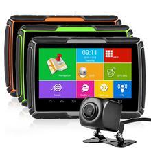 Fodsports gps, navegação gps para motocicleta, hd dvr, android, sistema, wi fi, bluetooth, 4.3 polegadas, tela sensível ao toque ipx7, à prova d água