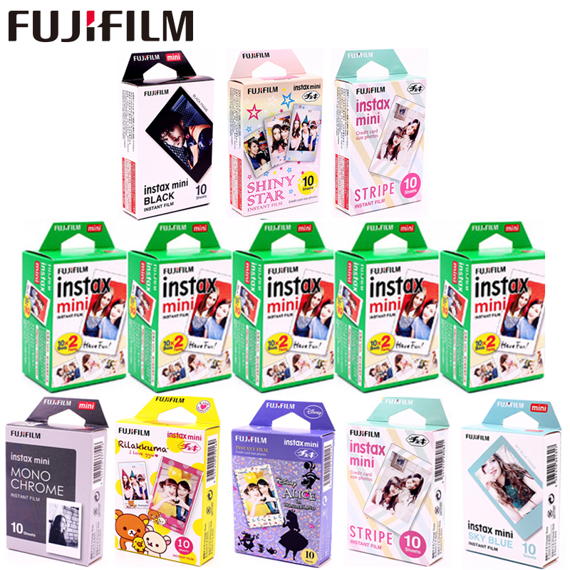 Fujifilm Instax Mini Film 8 9 11 Film 10-100 лист Белая Мини мгновенная фотобумага для камеры Instax Mini7s 50s 90 фото белая