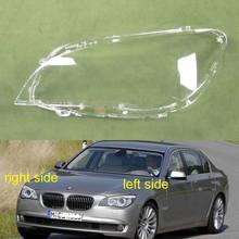 BMW 7 serisi için 2009 2010 2011 2012 2013 2014 2015 F02 F01 730 735 740 745 far kapağı gölge far şeffaf Lens kabuk