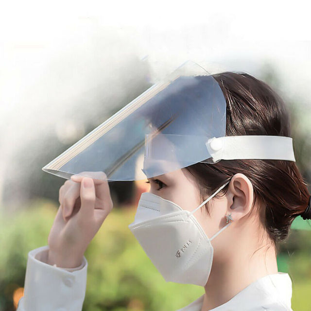Clear Protective Mask Cover Plastic Anti-fog Saliva Face Shields Mask 3