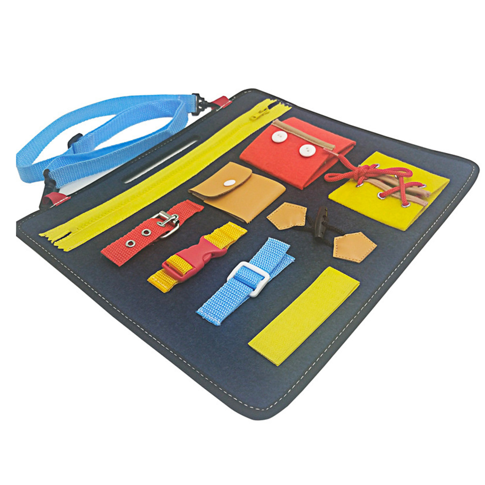 Drawing Zipper Wearing Clothes Montessori Felt Board Toy Button Bucklethe Shoes Buckle Early Education Intellectual Development