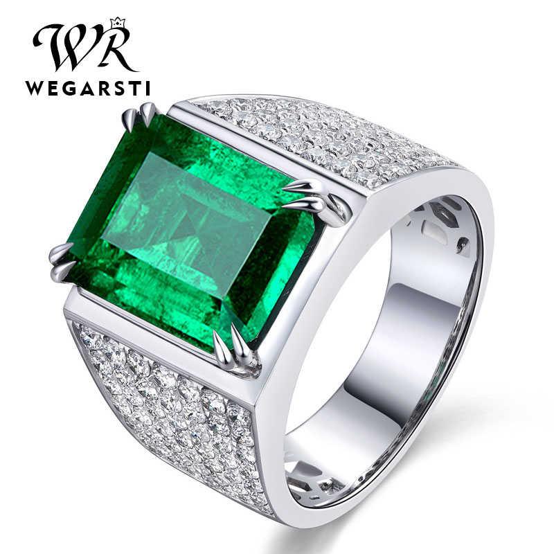 Natural Green Emerald Gemstone /& Pave Diamond Beads 925 Silver Handmade Jewelry
