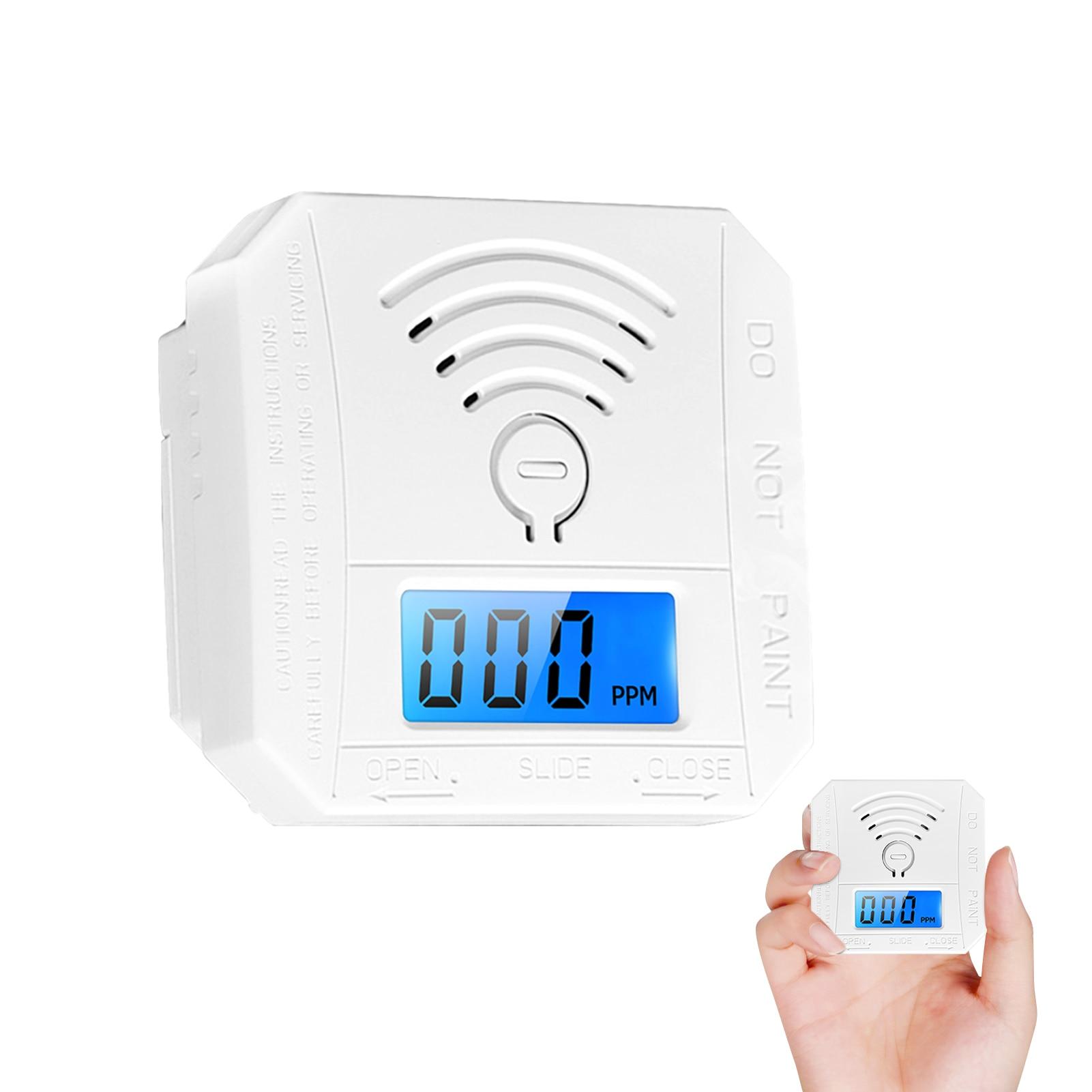Home Security Lcd Carbon Monoxide Poisoning Warning Alarm Detector Independent Co Gas Sensor 85db Warning-up Alarm Detector