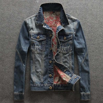 Men's Casual Single Breasted Denim Jacket Mens Jeans Jackets and Coats High Quality Plus Size Jacket