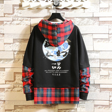 2019 Japanese Streetwear hoodies man Crane Sun Print Mens new arrival  Hip Hop sweatshirt male