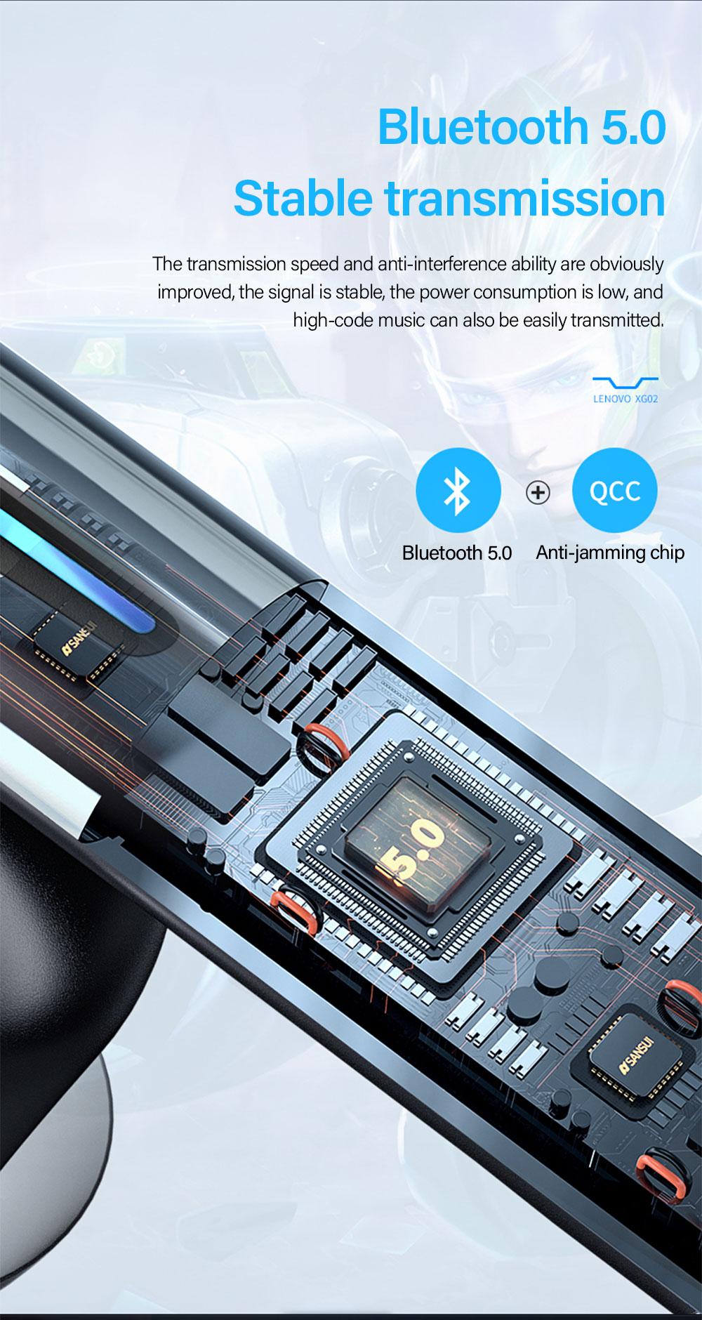 Lenovo XG02 TWS Gaming Earbuds 8