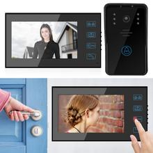 7in TFT Touch Door Entry System Chime Visual Night  Rainproof Intercom Doorbell 100-240V Digital Door Camera ttlife 3d easter bunny silicone mold rabbit with carrot cupcake fondant cake decorating diy tool candy chocolate gumpaste mould