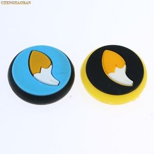 Image 3 - לערבב 35 צבעים סיליקון אנלוגי אגודל מקל כובעי אוחז עבור Nintend מתג NS JoyCon בקר מקלות כובע עור שמחה קון כיסוי