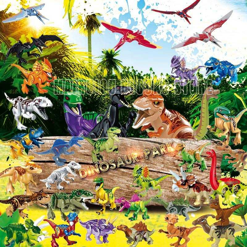 Dinosaurier Jurassic Welt Figuren Indoraptor Velociraptor Tyrannosaurus Rex Dinosaurier Modell Bausteine Bildung Kinder Spielzeug