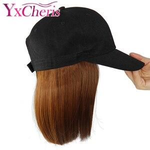 Synthetic Wig Hat Baseball Cap