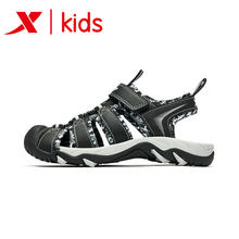 Xtep Black Color Beach Cool Sport Sandals Summer Boy Children's New Boys Baby Kids Sandals Children's Shoes 681215509231(China)