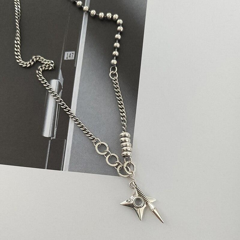 Купить 925 стерлинговые дротики серебряные подвеска кинжал ожерелья