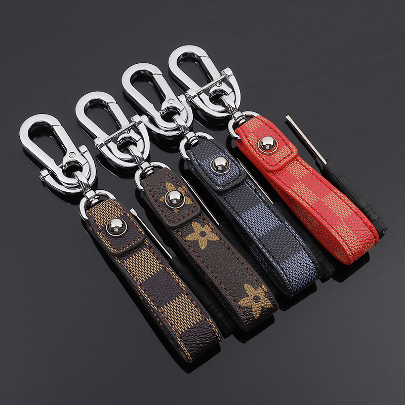 Handmade Leather Car Keychain Home Key Ring Man And Woman Waist Hanging Key Chains For Audi Volvo Lexus KIA Toyota