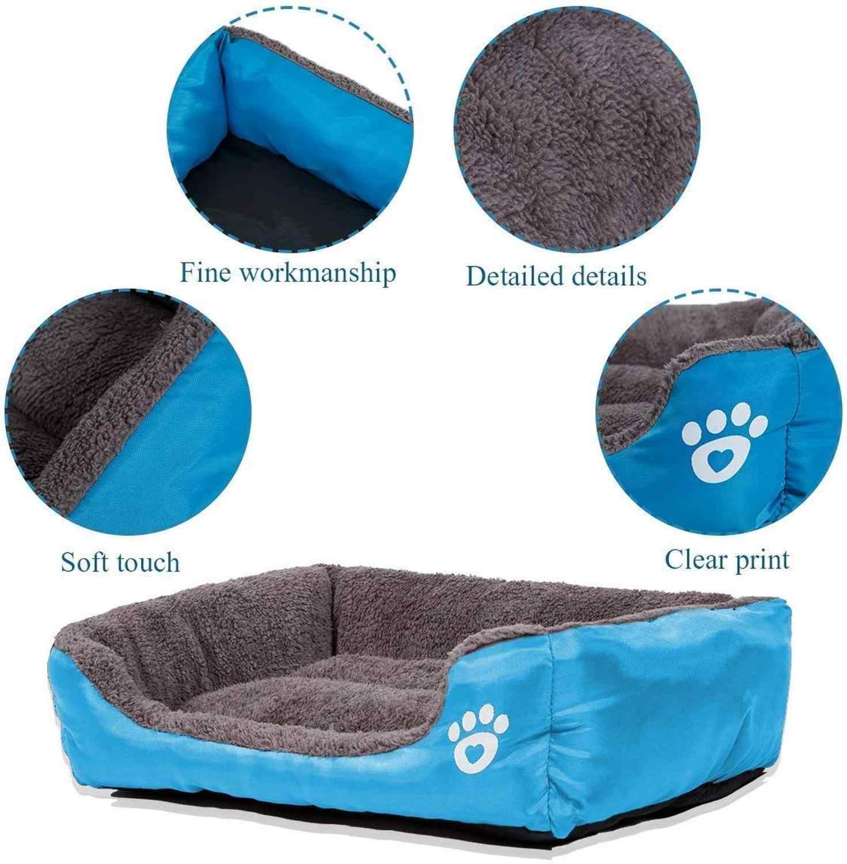 XL-XXXL 큰 개 침대 슈퍼 부드러운 따뜻한 애완 동물 침대 적합한 직사각형 비 슬립 하단 빨 애완 동물 침대 강아지 패드 고양이 잠자는 강아지 패드