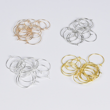 50pcs/lot Copper Hoops Earrings Big Circle Ear Wire Hoops Earrings Wires For DIY Jewelry Making Supplies Material Findings