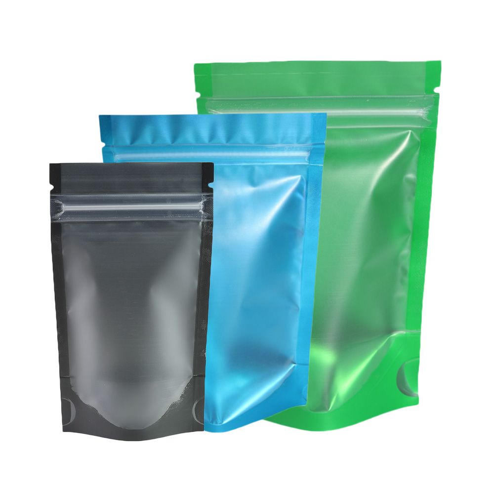 Reusable Metallic Storage Bags Clear Front Stand Up Pouches Eco-friendly Aluminum Foil Mylar Bags Kitchen Ziplock Packaging Bags