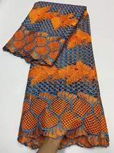 Tela de encaje africano de doble Color de alta calidad, encaje químico Soluble en agua, guipur para fiesta de boda, novedad