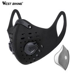 N95 Respirator Mask WEST BIKING N95 Men Cycling Face Mask Coronavirus Activated Carbon Sport Half Face Shield MTB Bike Bicycle Masks With Filter