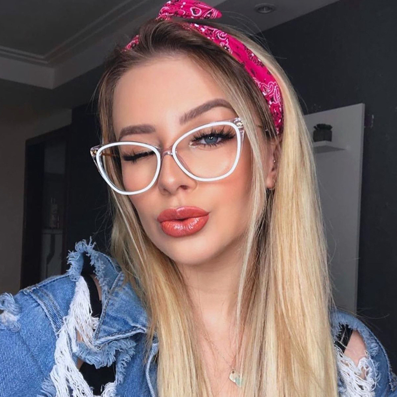 Sexy Glasses Frame 2020 Trend Cat Eye Frames For Women Female Optical Frames Fashion Brand Design Eye Glasess