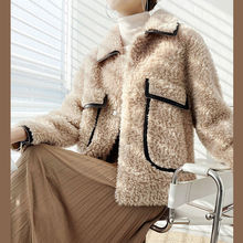 Jacket Coat Sheep-Shearing Real-Fur-Coat Wool-Fur Natural Winter Women Autumn Soft Casual